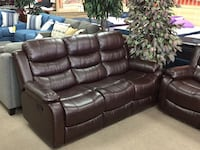 Brown leather Reclining Sofa and Loveseat Alexandria, 22309