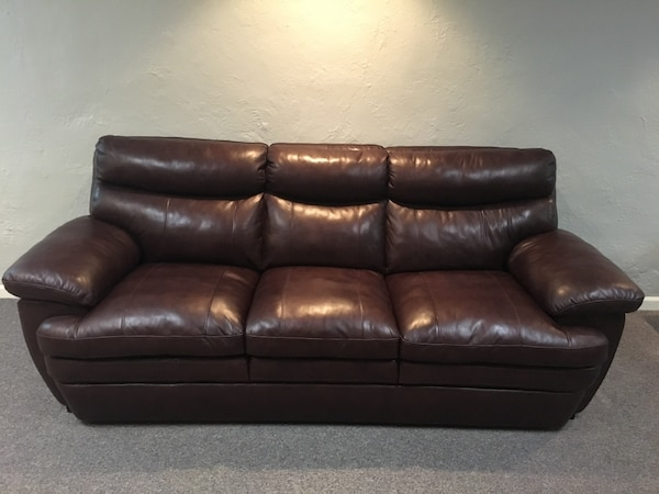 Brown Leather Sofa Couch from Kittles