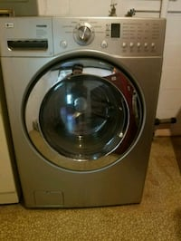gray LG front-load clothes washer Omaha