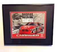 Nascar 2006 Dodge Charger Elliott Sadler Signed Framed Photo Card 8 X 11 SOA London