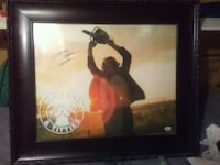 Autographed leatherface Independence, 64052