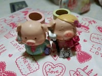 two white and pink ceramic figurines Singapore, 510755