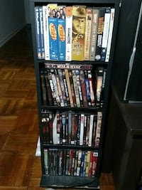 Dvds and the shelf holding them Alexandria, 22314