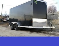 BEST PRICE Around Enclosed Trailer in Great Shape Newer Tires 7x14