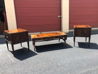 1940's Weiman Solid Wood Coffee Table and 2 End Tables (with hidden compartments ) Woodbridge, 22192