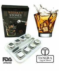 Whiskey stone gift set of 8 with tray and tongs  Irving, 75039