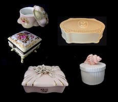 Decorative Trinket Boxes . . . . Vintage