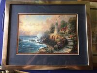 "Kinkade Print ""lighthouse "" Boyce, 22620"