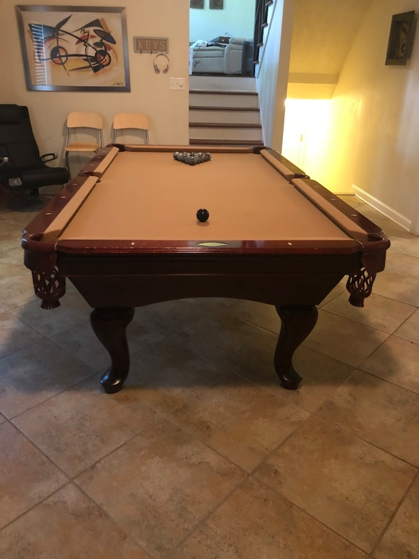 Used Brown And White Billiard Table For Sale In Stone Mountain Letgo - Stone pool table