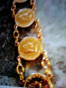 gold plated coin design jewelry