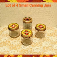 LOT OF 4 SMALL CANNING JARS   Ontario, 91762