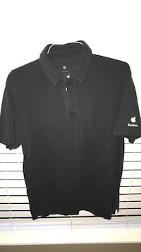 Large Black Apple Business polo