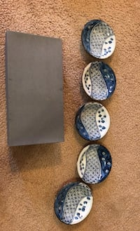 Set of 5 Authentic Japanese Plates