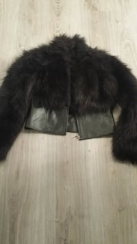 black faux fur jacket Oakville, L6M 3L1