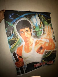 Vintage Bruce Lee Cloth Wallposter