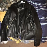 black leather zip-up jacket Gaithersburg, 20877