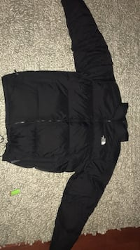 black The North Face zip-up jacket Brampton, L6Z 4W5