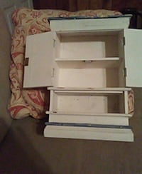 white and black wooden TV stand Bonaire, 31005