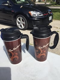 Two Timmy's reusable mugs barely used  New Tecumseth, L9R 1C3