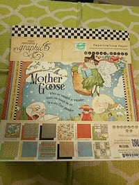 Graphic 45 Mothergoose 8x8 paper pad  Meriden, 06451