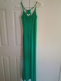women's green v-neck spaghetti strap dress Richlands, 28574