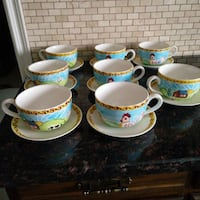 Set of 8 soup bowls & saucers Brampton, L6P