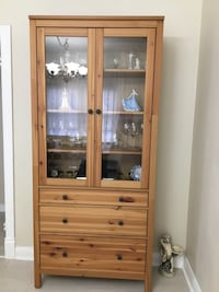China cabinet, Newer from ikea, like new, Scarborough for pick up Toronto, M1M 3G2