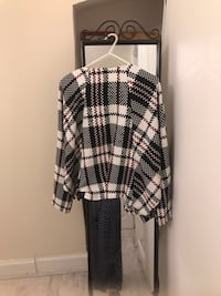 women's white and black plaid jacket Bristol, BS16