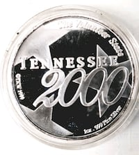 Millennium .999 Silver ounce round Tennessee