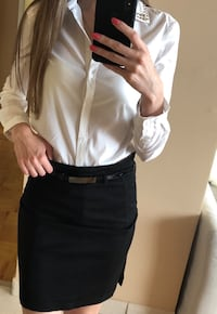 Office Skirt With Belt