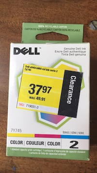 White and green dell ink cartridge box