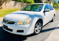 Drives Excellent ' Pearl White ' 2006 Honda Accord Silver Spring
