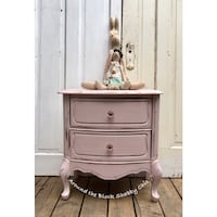 Vintage shabby chic French provincial nightstand