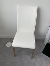 4 White and Gold Dining Chair