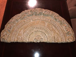 Brown stone fragment wall decor picture