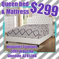 Queen bed and mattress  Glendale, 85308