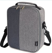 new Insulated Lunch Box Lunch Bag for Adults Men Women, Thermal Bento Bag for Office / School / Picnic, Grey