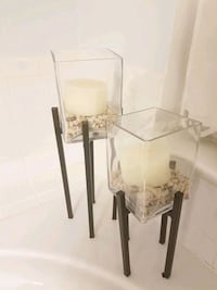 CANDLE HOLDERS PAIR