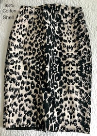 Black and brown leopard print pencil skirt size 2 Toronto, M9B 6H6