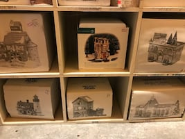 Dept 56 ceramic houses with lights
