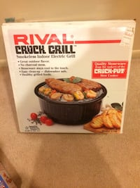 Rival Crock Grill - Smokeless Indoor Electric Grill Reston, 20191