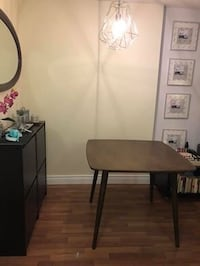 New* Vintage dining table + 2 matching chairs with gray sit Toronto, M4Y 1G2