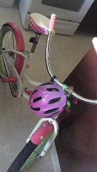 Pink and white bicycle with training wheels Silver Spring, 20904