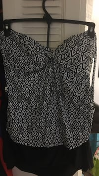 black and white strapless blouse Silver Spring, 20906