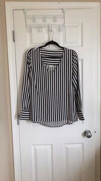 Black and white striped blouse Edmonton, T6V 1S7