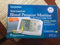 New in Box Lifesource Blood Pressure Monitor W/ Extra Large Cuff