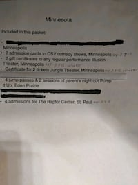 Tickets to Theatre performances in the Twin Cities Augusta, 67010