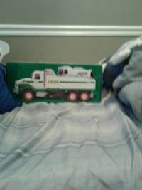 white and green Hess truck toy box Halethorpe, 21227