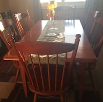 Wood Kitchen or Dining room table with 6 Chairs