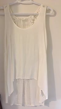 Size Small White Open Back Tank